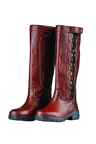 Dublin Pinnacle Grain Boots II RED Brown Ladies 8