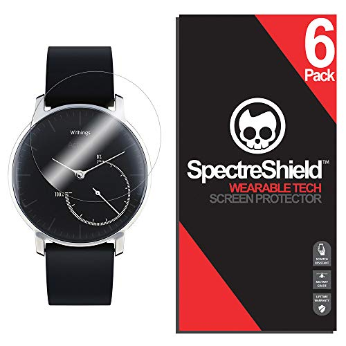 (6-Pack) Spectre Shield for Withings Activite Steel Screen Protector (Military-Grade) Flexible Full Coverage Ultra HD Clear Anti-Bubble Anti-Scratch Film