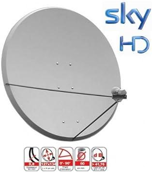 SATENCO Antena Parabólica 130 cm Astra 2E Sky R.U. Nilesat ...