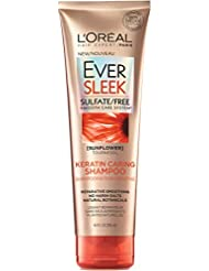 L'Oréal Paris EverSleek Sulfate Free Keratin Caring Shampoo, 8.5 fl. oz.