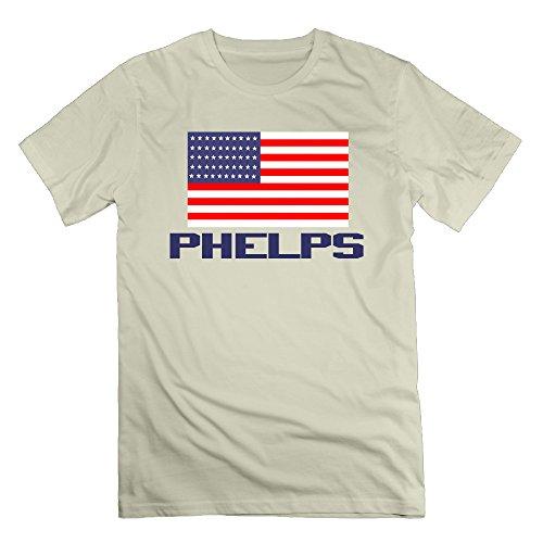 Michael Phelps Natural Men's Sport T Shirts For Men Size XXL