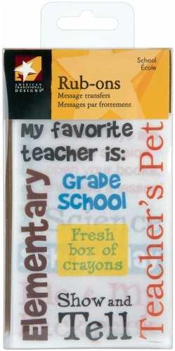 (American Traditional Boxed Rub-ons - School)