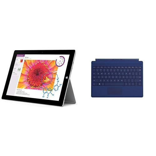 Microsoft Surface 3 Tablet (10.8-Inch, 64 GB, Intel Atom) with Type Cover, Blue