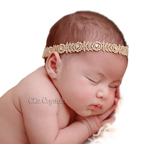 Rose Gold Headband/head Wrap with Swarovski Rhinestones, (Rhinestone Head Wrap)