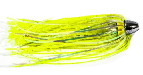 Boone Duster Lures (Pack of 3), Chartreuse/Silver Flake Mylar