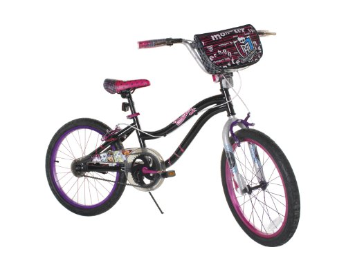 Dynacraft Girl's 20-Inch Monster High Bike, Black/Pink]()