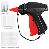 CINOTON Clothes Tagging Gun, Price Tag Gun with 1500 pcs 2' Standard Fasteners, 6 Needles,10 pcs Labels, Tag Gun for Clothing Fit Yard Sale/Flea Market and Decorate