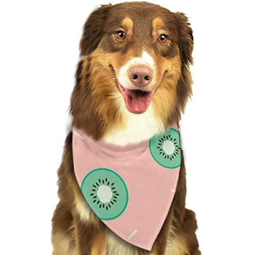 Yisliferunaz Dogs Bandanas Green Kiwi Fruit Print Pet Triangle Bibs Scarves Retro Scarfs Kerchief Set Costume Decoration Neckerchief Cats Collars Holiday Birthday Gift