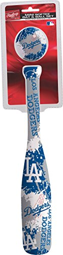 Los Angeles Dodgers Bat - Jarden Sports Licensing MLB Los Angeles Dodgers Kids Mini Softee Bat & Ball Set, Small, Blue