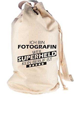 Shirtstown Bolso marinero Ich bin fotografin, Weil superheld Ningún ocupación Est - natural, 30 cm x 53 cm x 30 cm natural