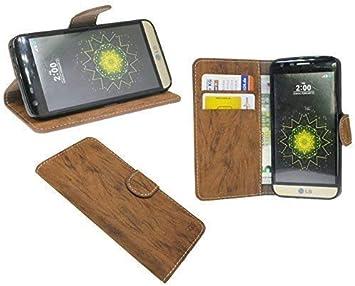 Elegante Cobertor Estilo Libro para DAS LG G5 SE (H840) en Marrón ...