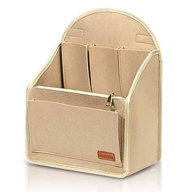 Backpack Organiser, Simboom Multi Pocket Felt Insert Organiser Bag for Women Beige Size: Medium