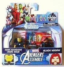 Marvel MiniMates Avengers Assemble Dark Avengers Exclusive Iron Man & Black Widow