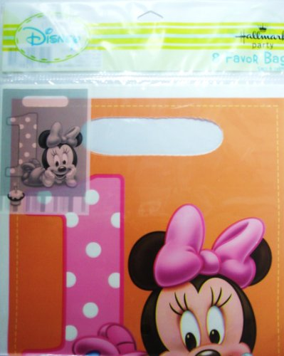 Disney Minnie Mouse 1st Birthday Treat Sacks ()