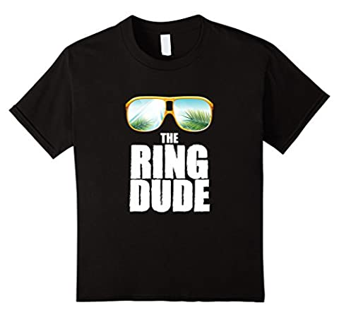 unisex-child Cute Boy's The Ring Dude Bearer T-Shirt Wedding Party Gift 6 Black