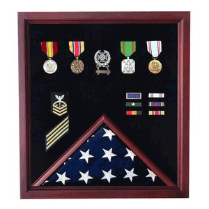 Retirement-Cherry-Medal-and-Flag-Display