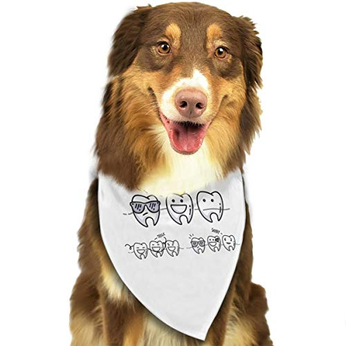 Pet Scarf Dog Bandana Bibs Triangle Head Scarfs Golden Crown Accessories for Cats Baby Puppy ()