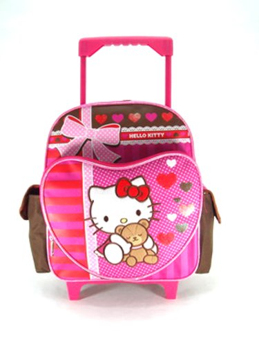 Hello Kitty Rolling Luggage (Small Rolling Backpack - Hello Kitty - Super Sweet)