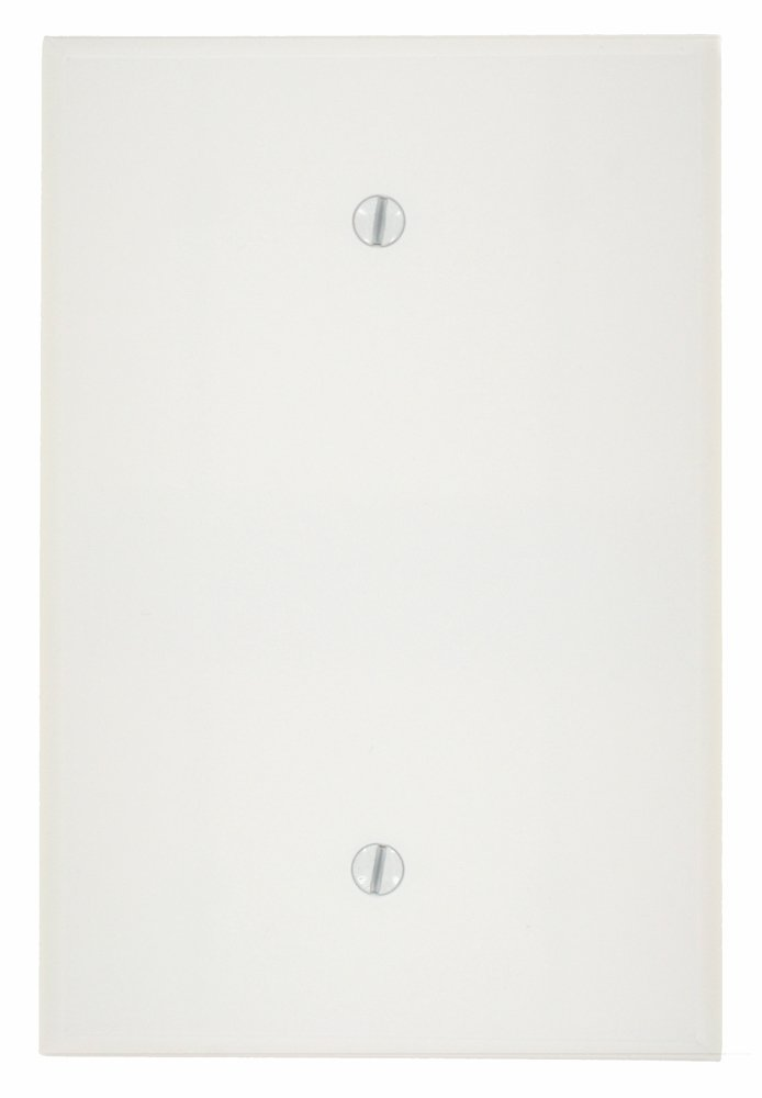 Leviton 88114 002-000 1-Blank Oversized Wall Plate, 1 Gang, 5-1/4 in L X 3-1/2 in W 0.255 in T, Smooth, 1 Pack White