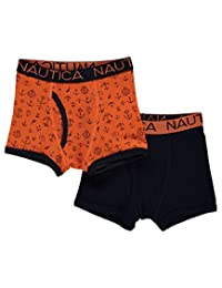 "Nautica Little Boys' ""Solid & Anchors"" 2-Pack Boxer Briefs"
