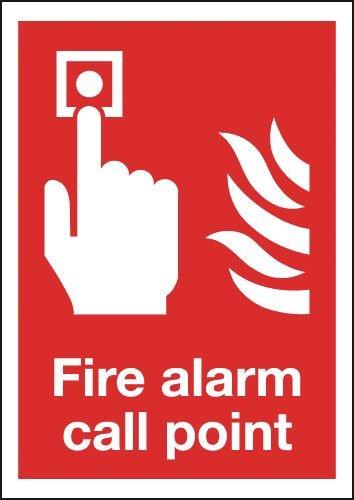 297 x 210 mm pulsador de alarma alarmas de incendio - placa ...