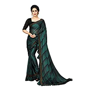 Women's Raw Silk Saree With Un-stitched Blouse