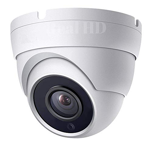 Real HD 1080P Dome HD Analog Outdoor Security Camera (Quadbrid 4-in1 HD-CVI/TVI/AHD/Analog), 2MP 1920x1080, 3.6mm fixed lens, 65ft Night Vision