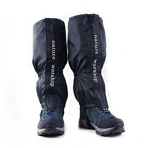 NATURE WORSHIP Gaiters Waterproof For Men and Women Snow Hiking Skiing Running Hunting Leg Covers by NATURE WORSHIP