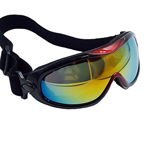 OTG Ski Goggles, Over Glasses Ski / Snowboard Goggles for Men, Women & Youth 100% UV Protection