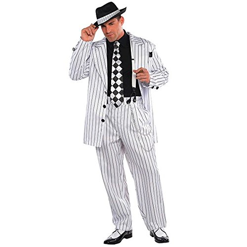 Amscan Standard Adult Pinstripe Daddy Costume, Multicolor