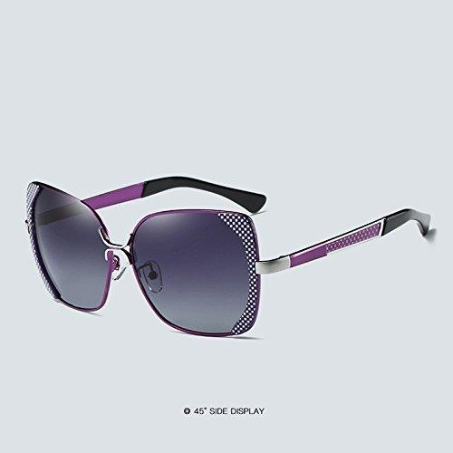 de Color Surdimensionné Soleil Luxe 4 de purple Femme Gradient Cicongzai Lunettes Lunettes Lunettes Soleil Purple Vintage Papillon 4 Femmes Polarisé Dames 6Fqqf
