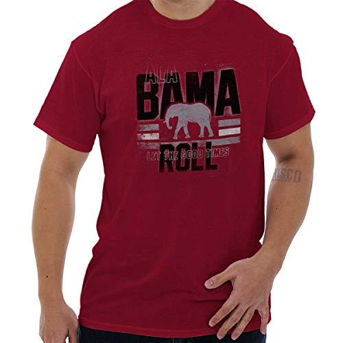 (Alabama State Bama Roll Elephant Novelty T Shirt Gift Ideas T Shirt Tee Cardinal Red)
