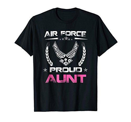 Air Force Family - Proud Aunt U.S. Air Force Stars T-shirt ()
