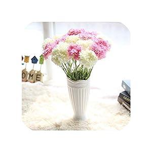 Artificial Silk Carnation Flower Home Wedding Decoration 6 Flowers Head Valentine's Day 43