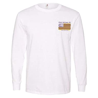 a7342371419 Amazon.com  Greekgear Phi Sigma Pi Stripes Long Sleeve T-Shirt  Clothing