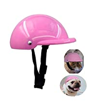 GUGELIVES Pet Dog Helmet Hardhat for Puppy Chihuahua Blind Dogs Motorcycles Bike Walking Ridding Outdoor Activities to Protect for Small Medium Large Doggie Head Sunproof Rainproof Pet Dog Helmets Supplies(S,Pink)