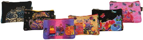 Laurel Burch Mini Tote (Canvas Corp Cosmetic Bag Zipper Top Assortment, 9 by 1 by 6-Inch, Feline Minis)
