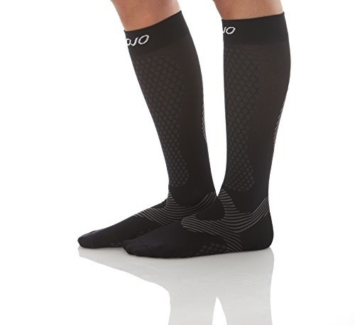 Mojo Compression Socks for Men and Women Knee Length Medium Black 20-30mmHg A603BL2