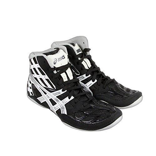 New Asics Men's Split Second 9 Wrestling Shoe Black/Titanium/White 9