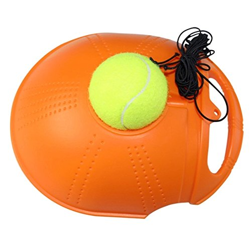 Lovetosell123 (Random color) Tennis Training Tool Exercise Tennis Ball Self-study Rebound Ball With Tennis Trainer Baseboard Sparring (Random color)