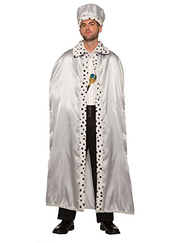 Forum Novelties Royal King Cape for Adults, Silver -
