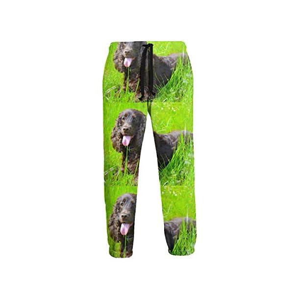 ZALAYUNI Irish Water Spaniel Men Sport Pants, Soft and Comfortable Sweatpants, Joggers Pants for Men 1