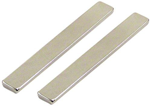 2 St/ück 2 St-Packung 75 x 10 x 3 mm thick First4magnets F75103-2 Dicker N42-Neodym-Magnet-12,4kg Anziehungskraft