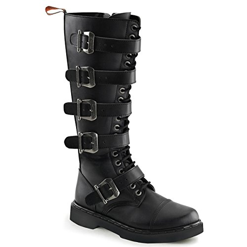 Mens Boots Sale Online (Mens Tall Combat Boots Black Vegan Leather Boots Lace Up Buckles MENS SIZING Size: 8)