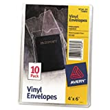"Vinyl Envelopes, 4""""x6"""", Heavyweight, Top Thumb notched, CL, Sold as 1 Package, 10 Each per Package"