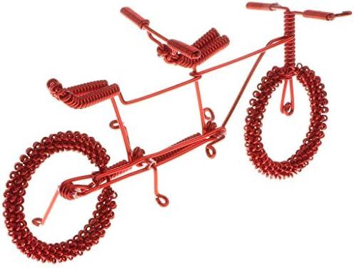 全8色 バイクモデル 自転車 メタル模型 おもちゃ オフィス 家庭 KTV カフェ ホテル 置物 装飾 工芸品 - 赤