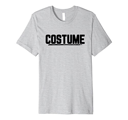 Mens Halloween T-Shirt That Says Costume Easiest Last Min Tee Small Heather Grey