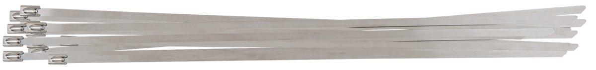 Colliers serre-c/âble en acier avec fermeture /à bille 100 pi/èces 4,6 x 200 mm