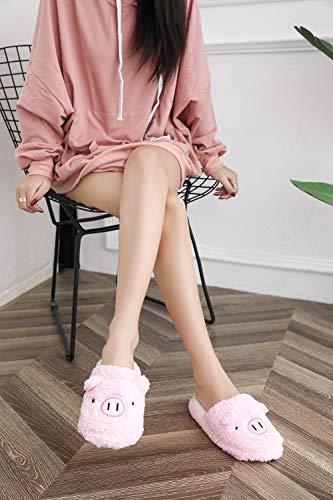 Intérieur Cochon Chaussons Hiver Panda Femme rose Qzbaoshu Chaussures YqUvIaww