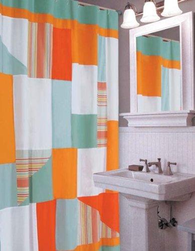 C&F Home 89895.7272 Fiesta Key Shower Curtain, Blue